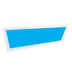 Abstract banner on white background ribbon and vector