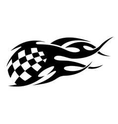 Checkered black and white motor sport flags vector image