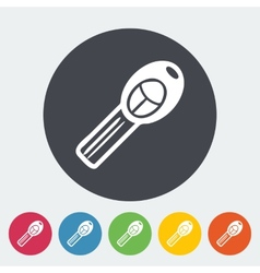 Ignition key single icon vector