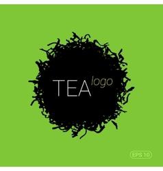 Modern logo for tea shop teahouse or company vector image