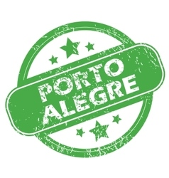 Porto allegre green stamp vector