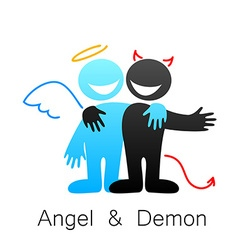 Angel and demon vector