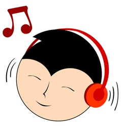 music with headphones vector image