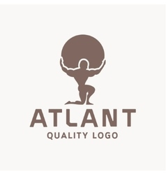 Atlant atlas holds earth quality stylized logo for vector