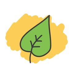 Cartoon doodle leaf vector