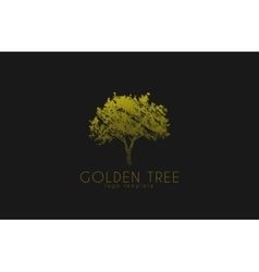Tree logo golden tree nature logo design vector