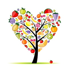 Energy fruit tree heart shape for your design vector image