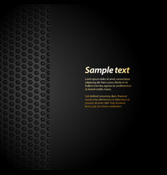 Black mesh background with sample text vector