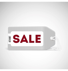 Blank price tag isolated on white vector image vector image