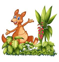 cartoon happy dinosaur vector image vector image