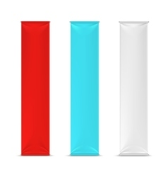 Color empty vertical advertising banner flags vector image vector image