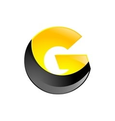 Creative yellow and black symbol letter g for your vector