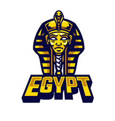 egyptian sarcophagus logo vector image