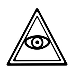 Eye of providence vector image