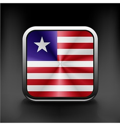 Flag of Liberia Accurate dimensions vector image