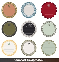 Frame labels Set ornamental vintage decorat vector image vector image