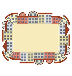 frame made of buildings vector image vector image