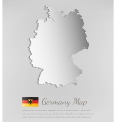 Germany map with shadow effect vector
