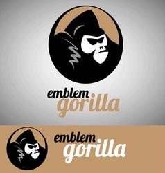 gorilla emblem vector image