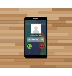 incoming call single isolated object with single vector image vector image