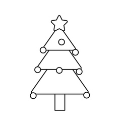 Isolated pine tree of Christmas season design vector image vector image