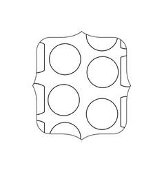 Line quadrate with memphis geometric figure vector