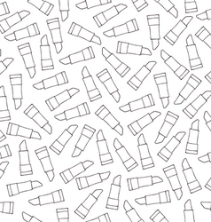 Lipstick seamless pattern sketch vector image vector image