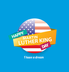 Martin luther king jr day us sticker or vector