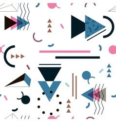 Memphis pattern of geometric shapes for tissue and vector image vector image