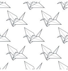 Origami crane seamless pattern vector