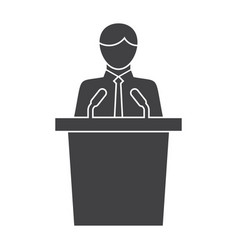 Politician icon vector