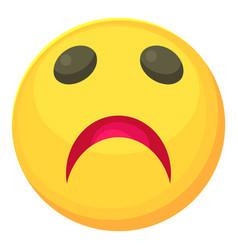 Sad smiley icon cartoon style vector