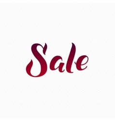 Sale logo sale calligraphic print for poster red vector