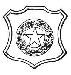 Seal of the state of texas 1890 vintage vector