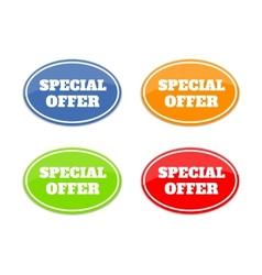 Set of multicolor seals stickers vector image vector image