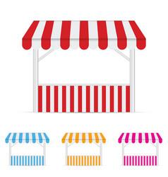 street stall market set one vector image
