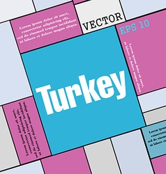 Turkey icon sign modern flat style for your design vector