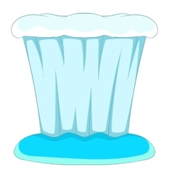 Waterfall icon cartoon style vector