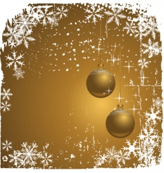 winter background with snowflakes il vector image vector image