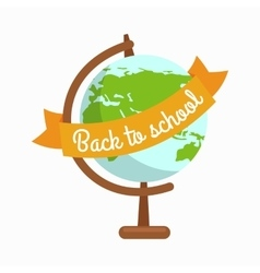 School globe  back to school vector image