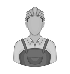 Builder icon black monochrome style vector image