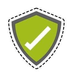 Isolated check mark inside shield design vector