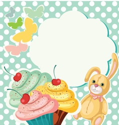 Cake Banner vector image