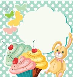 Cake banner vector