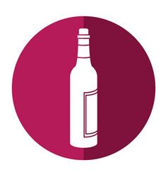Glass bottle wine liquor shadow vector