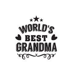 Best grandma handwritten in black vector