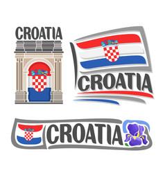 logo for croatia vector image