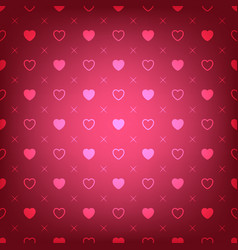 red background with hearts seamless pattern vector image