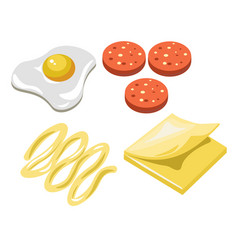Sandwich fast food ingredients constructor vector