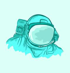 astronaut cartoon vector image